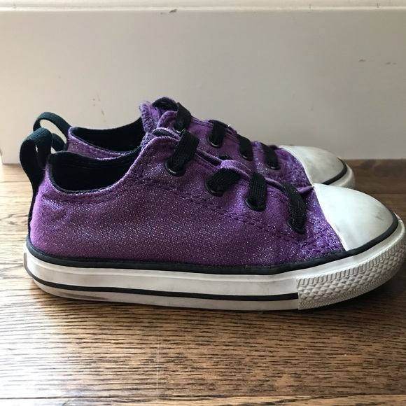 68faf9f0f790 Converse Other - EUC Converse Purple Glitter Toddler Shoes sz 8